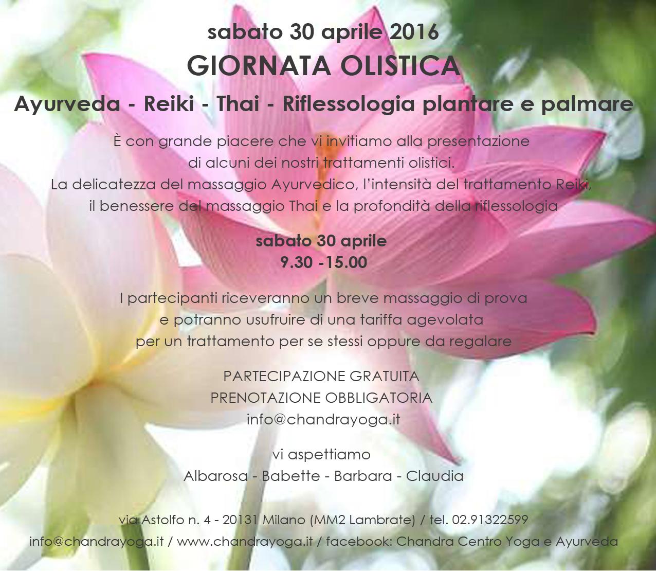 30 aprile 2016 – GIORNATA OLISTICA