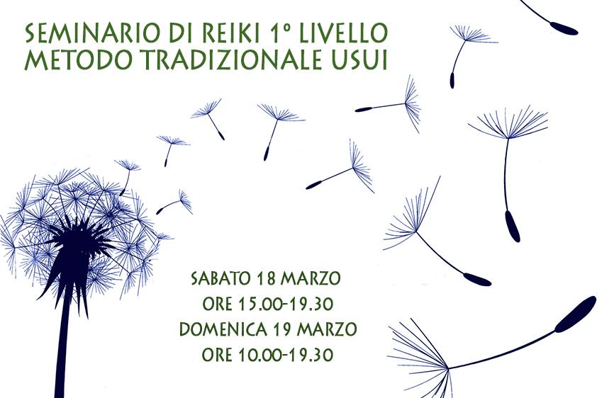 CORSO DI REIKI 1° LIVELLO – 18/19 marzo 2017